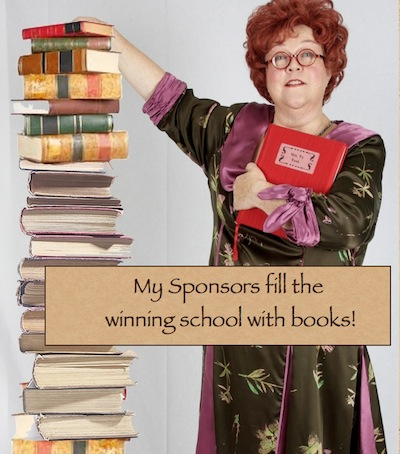 Sponsors fill with books.001