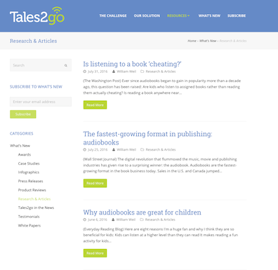 Tales2Go research