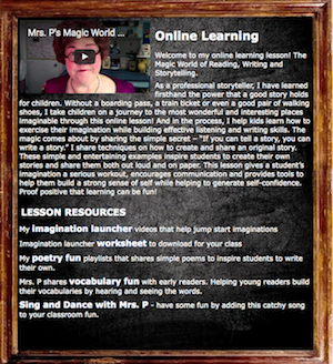 Online learning lesson