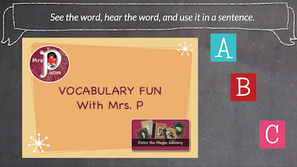 A to Z Vocabulary Builders with Mrs. P